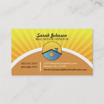 real estate investor business card template