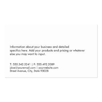 Small Real Estate Investor | Executive Marble Business Card Back View