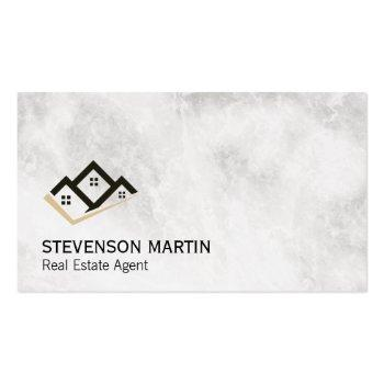 Small Real Estate Investor | Executive Marble Business Card Front View