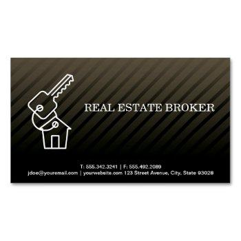 real estate investor | keys to the home business card magnet