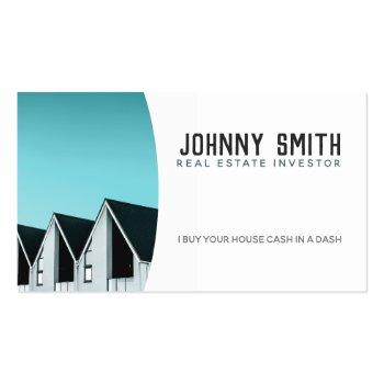 Small Real Estate Investor Slogans Business Cards Front View