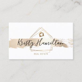 real estate professional house realtor gold business card