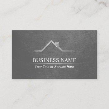 real estate professional realtor grunge metal business card