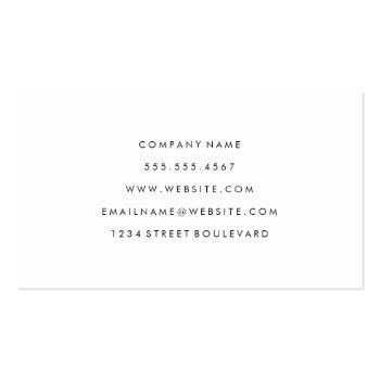 Small Real Estate | Realtor Agent | Executive Marble Business Card Back View