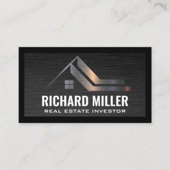 real estate roof | property investor business card