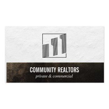 Small Realtor   Lending   Investing   Financial Business Card Front View