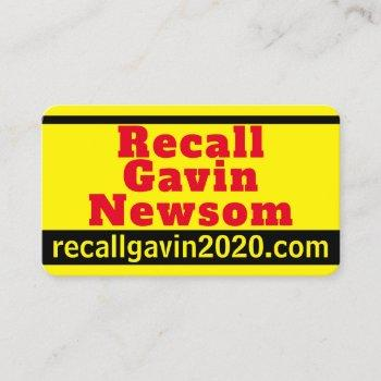recall gavin 2020 business card