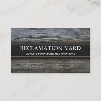 reclamation / salvage yard business card