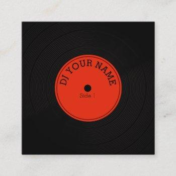 record plate vinyl musical cover square business card