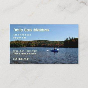 recreational kayaking business card
