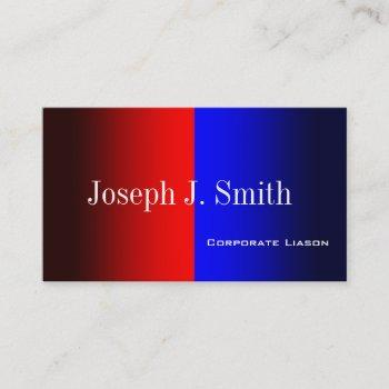 red and blue modern professional business cards