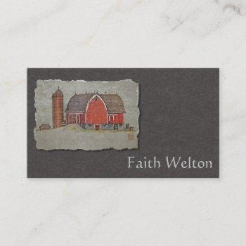 red barn & silo business card