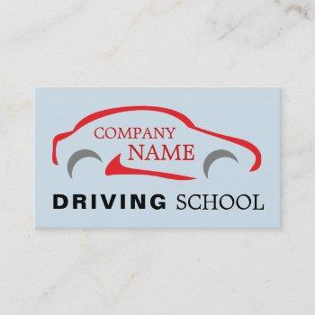 red car logo, driving instructor business card