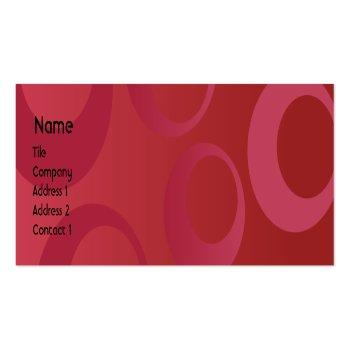 Small Red Circles - Skinny Mini Business Card Front View