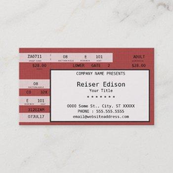 red concert ticket