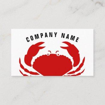 red crab business card | seafood logo template