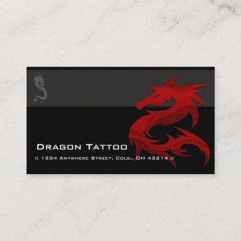 red dragon d2 asian tattoo unique business cards