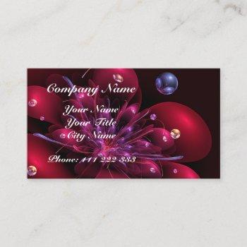 red flower 3d - fractal impression. business card