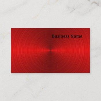 red steel business card
