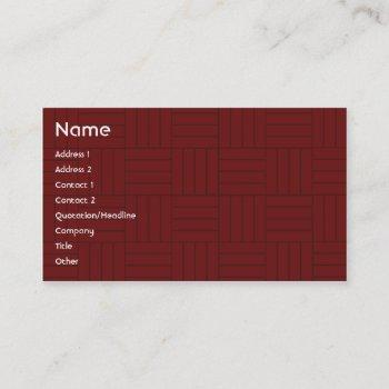 red tile - business business card