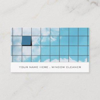 reflection, window cleaners, cleaning service business card