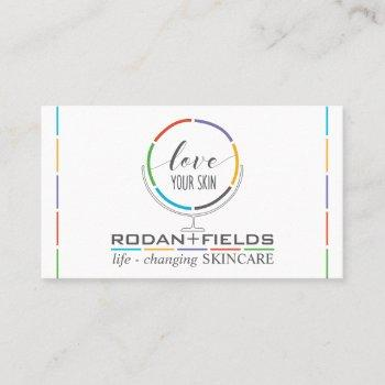 regimen hand drawn mirror rodan and fields business card