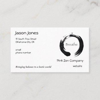 remember to breathe! business card