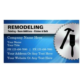 Small Remodeling Business Cards Front View