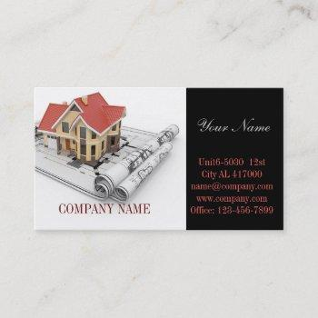 renovation home remodeling contractor construction business card