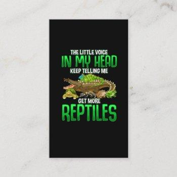 reptile lover gifts snake frog and turtle owner business card