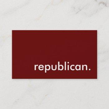 republican. business card