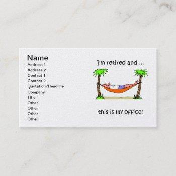 retirement business card