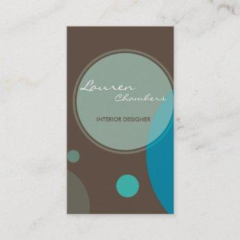 retro business card :: large dots 5p