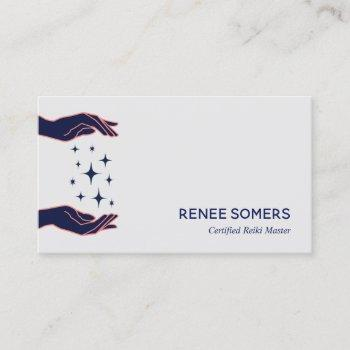 retro modern reiki practitioner energy healer business card