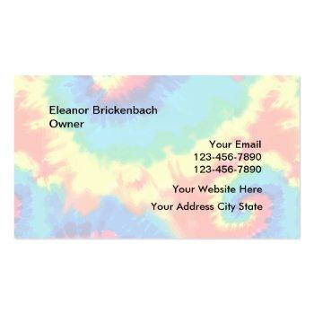 Small Retro Tie Dye Style Business Cards Back View