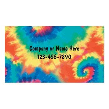 Small Retro Tie Dye Style Business Cards Front View