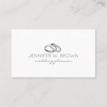 ring jewelry silver engaged business card