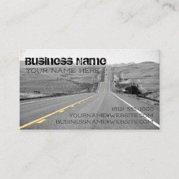 road travel business card trucking delivery semi