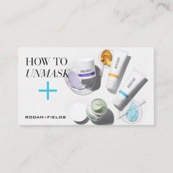 rodan and fields face masks instructions business card