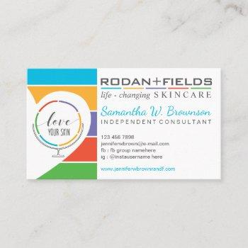rodan and fields love heart mirror business card