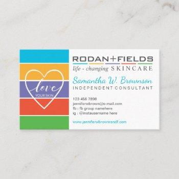 rodan and fields love skin business card