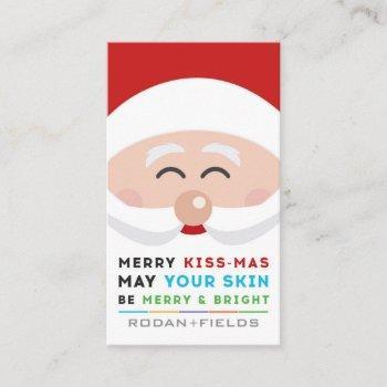 rodan and fields merry kissmas mini facial cards