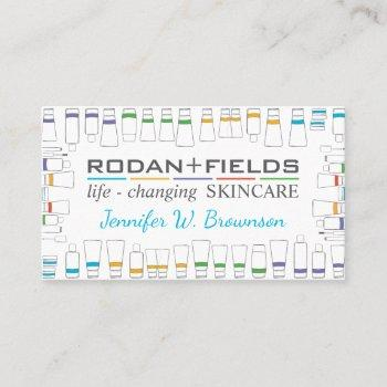rodan + fields bottles business card