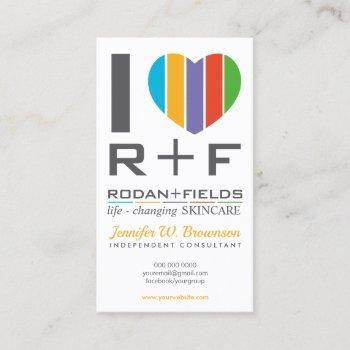 rodan fields regimen i love rf business card