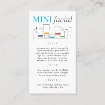 rodan fields regimen mini facial business card