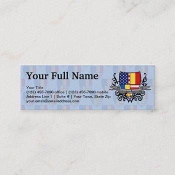 romanian-american shield flag mini business card