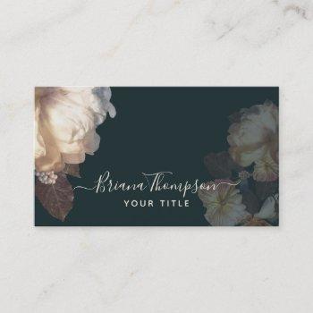romantic blooms elegant feminine floral business card
