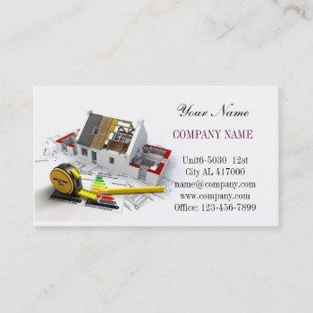 roof repair construction home renovation business card