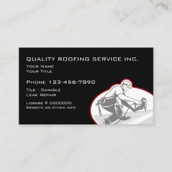roofing and construction design business card