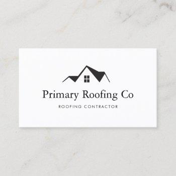 roofing contractor logo r business card